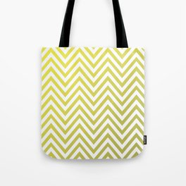 Geometric Lines Pattern Yellow / Golden Tote Bag