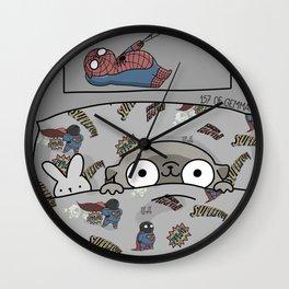 Mochi the pug Waiting for Christmas like... Wall Clock