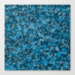 Turquoise Blue Field of Stars Canvas Print