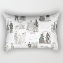 Biedermeier Romance Rectangular Pillow