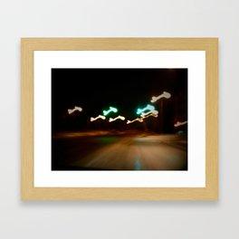 Speeding Framed Art Print