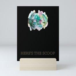 Here's the Scoop Ice Cream Lover Mini Art Print