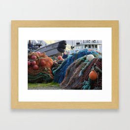 Dutch Harbor Fishing Nets and Boats Framed Art Print