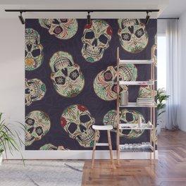 Skulls Art Cartoon Design Wall Mural