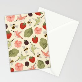 Hummingbirds in the Garden Pattern Stationery Cards