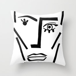 Faire Visage No 71 Throw Pillow