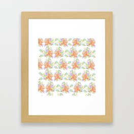 Tropical Leilee Hawaiian Flower Print Framed Art Print