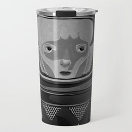 We come in peace No. 2 BW Travel Mug