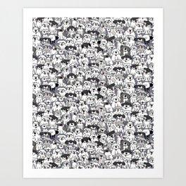 Original Sheepdogs On Watch Art Print