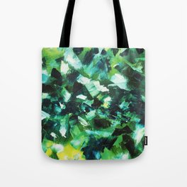 Yellow, Blue and Green Abstract Painting Tote Bag