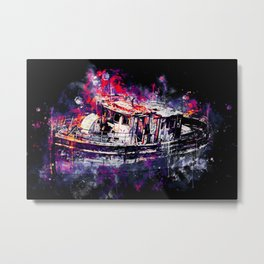 old ship boat wreck ws fn Metal Print