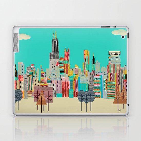 Chicago city (summer days) Laptop & iPad Skin