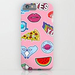 Pink Graffiti Collage iPhone Case