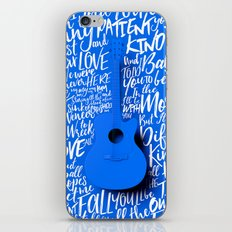 Lyrics & Type - Bon Iver - Skinny Love iPhone Skin