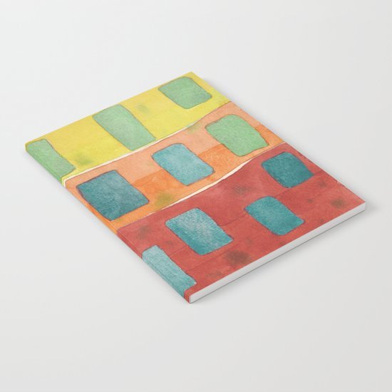 Placed in a Red Orange Yellow Field Notebook