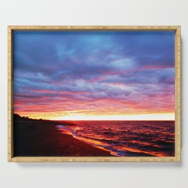 Sunset Saturation Serving Tray