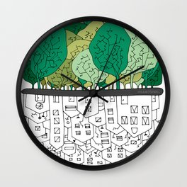 SCONFINAMENTI-CITY AND NATURE Wall Clock