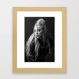 Billie Eilish Black White Framed Art Print
