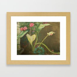 Lilly and Camelia pastel painting Framed Art Print