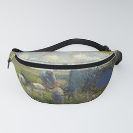 """Camille Pissarro """"The Artist's Palette with a Landscape (c.1878)"""" Fanny Pack"""
