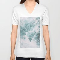 norway V-neck T-shirts featuring Norway - Nebula - with triangles! by Andrej Stern