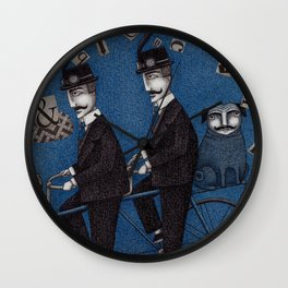 Two Men Travelling Wall Clock