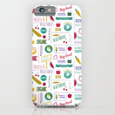 Farmers market pattern - white iPhone 6s Slim Case