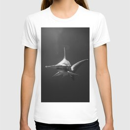 Hammerhead Shark (Black and White) T-shirt