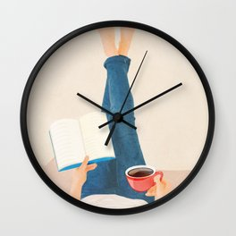 Morning Read Wall Clock