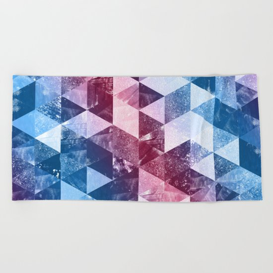 Abstract Geometric Background #8 Beach Towel