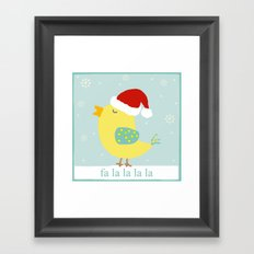 Christmas Birdie Framed Art Print