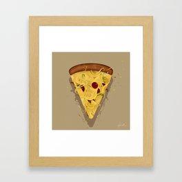 MADNESS PIZZA Framed Art Print