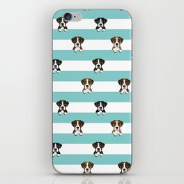 Boxer dog stripes cute pet gifts iPhone Skin