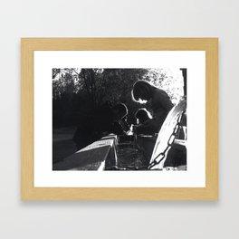 Panning for Gold Framed Art Print