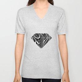 Black White Grey Marble Unisex V-Neck