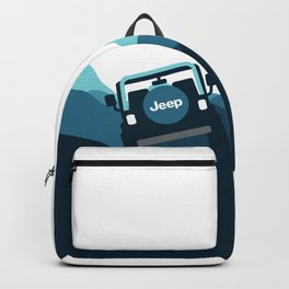 Jeep 'Driving' Blue Mountain Backpack
