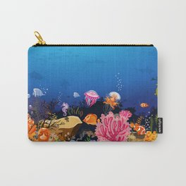 Beautiful Coral Reef Animals Carry-All Pouch