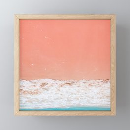 pink sand beach Framed Mini Art Print