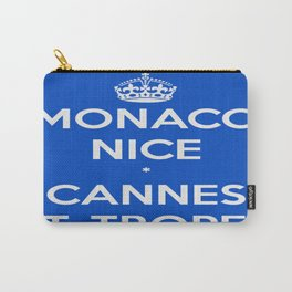 Monaco Nice Cannes St. Tropez Carry-All Pouch