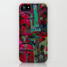 Psychedelic windows iPhone Case