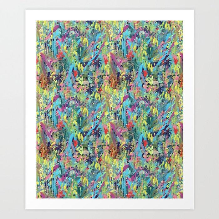 Painted Jungle by Katrina Ward Art Print