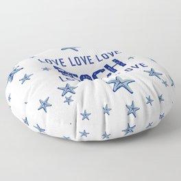Beach Love - Nadia Bonello Floor Pillow