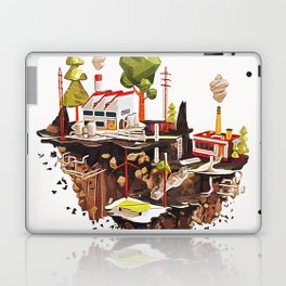 Floating Island in Low Poly style Laptop & iPad Skin