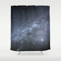 milky way Shower Curtains featuring Milky Way by Astrophotos by McLeod