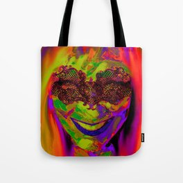 Masked and Multi-colored Tote Bag