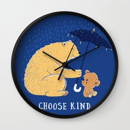 Choose Kind Wall Clock