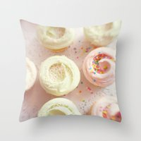 cupcakes Throw Pillows featuring Cupcakes by Kim Fearheiley Photography
