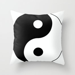 Ying and Yang Smybol Throw Pillow