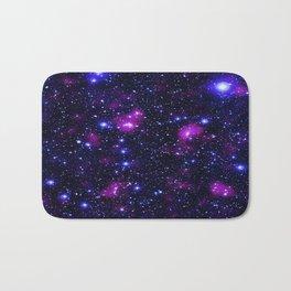 GalAxy Purple Blue Stars Bath Mat
