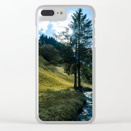 Fields of Green Clear iPhone Case